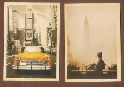 Retro style Postcards New York Empire State and Yellow Taxi cab  C20