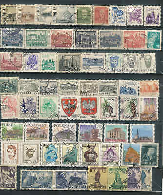 Poland  selection of  Vintage stamps used (over 100)  NICE LOT SEE 2 Scans A8