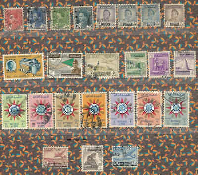 Iraq Collection 24 Early Multi Design Stamps Used A19