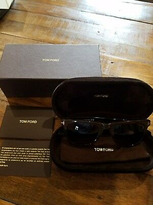 db56aed08d7bc TOM FORD Leo Sunglasses Black and Wood Grain - With Case and Box. TF336 05K