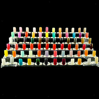 6 Tier 72-Slot Acrylic Nail Polish Selection Display Stand Shelf Rack Holder