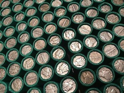 Mercury Silver Dime Rolls Wheat Cent Old Investment Collection Lot Money Set Pds