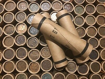 Wheat Cents Bank Roll Set Indian Head Penny Coins Estate Old Sale Lots Money Pds
