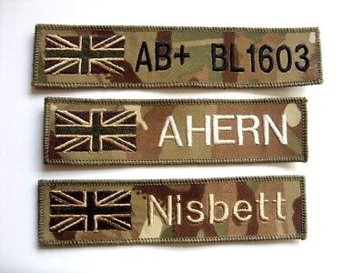 Mtp Name Badge Army Raf Rn Subdued Uk Union Jack Flag Patch Airsoft Paintball