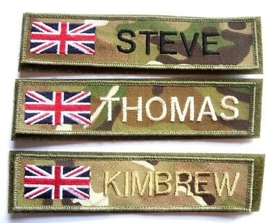 Mtp Name Badge Army Raf Rn  Uk Union Jack Flag  Patch Airsoft Paintball Trf Dz