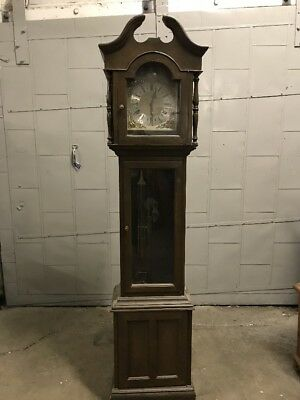 Grandfather Clock Tempus Fugit Grand Father 6 1/2'  Needs work