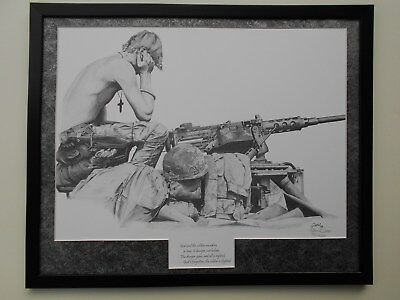 God and the Soldier  matted art by John Queen