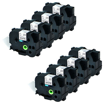8 PK Black on White TZ261 TZe261 Label Tape for Brother P-Touch PT-9500PC 36mm