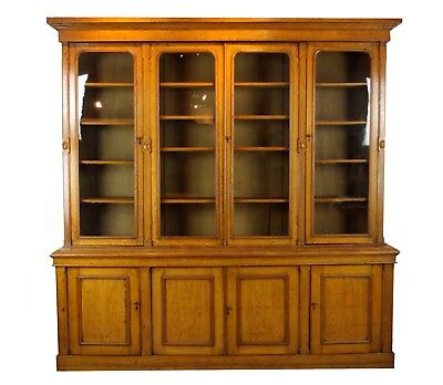 Antique Oak Bookcase, Library Bookcase, Oak Bookshelves, Scotland 1870, B1043