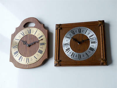 2 pcs ! Old german HERMLE + ZENTRA wall clock retro vintage antique kitchen