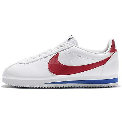 Wmns Nike Classic Cortez Leather OG Forrest Gum White Red Women Shoes 807471-103