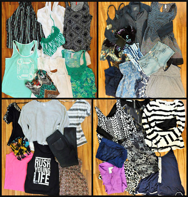 Junior's Clothing Mixed Lot Size L & XL & Size 13 Clothes  34 PC.