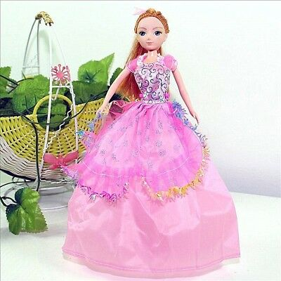 Handmade Party Dress Fashion LPink Clothes For Barbie Doll Outfit Gown Wedding