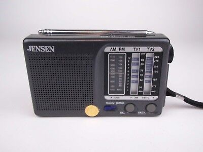 VTG Jensen MR-400 AM/FM/TV1/TV2 12 Channel Portable Pocket Radio Receiver