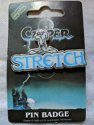 1995 CASPER The FRIENDLY GHOST's STRETCH PIN Badge Dufort & Sons UK Halloween