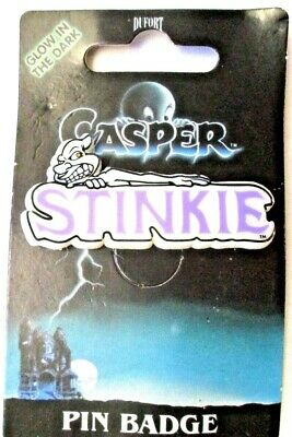 1995 CASPER The FRIENDLY GHOST's STINKIE PIN Badge Dufort & Sons UK Halloween