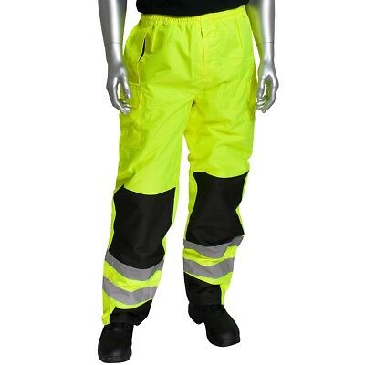 PIP Class E Reflective Waterproof Safety Over-pants, Yellow/Lime
