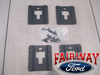 15 thru 18 F-150 OEM Ford Tie Down Bed Cleat Standard Interface Plate 4-Pc Kit