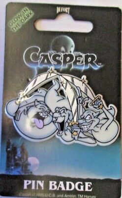 1995 CASPER The FRIENDLY GHOST's FATSO, STINKIE, & STRETCH PIN Dufort & Sons UK