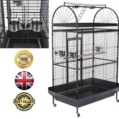 Caesar Parrot Metal Cage Large Bird Budgie Cage in antique style - 178cm tall