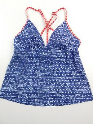 f55d503a77 Mossimo Red/White/Blue Stars & Stripes Patriotic Tankini Swim Top Medium  NWOT