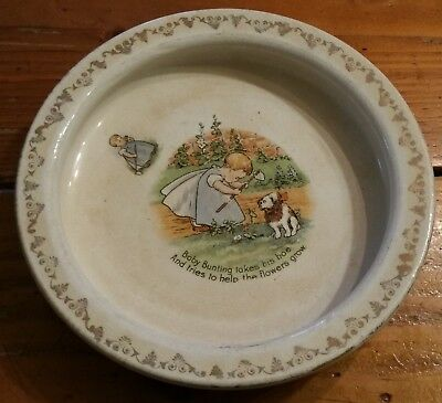 Antique D. E. McNicol Heavy Baby's  Child's Bowl East Liverpool, O.