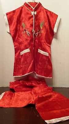 Vintage Child's Hand Embroidered Chinese Outfit