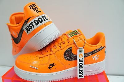 0c2e35fe423d0 NIKE AIR FORCE 1 Low  Just Do it pack  Mens AR7719-800 orange sz 8 ...
