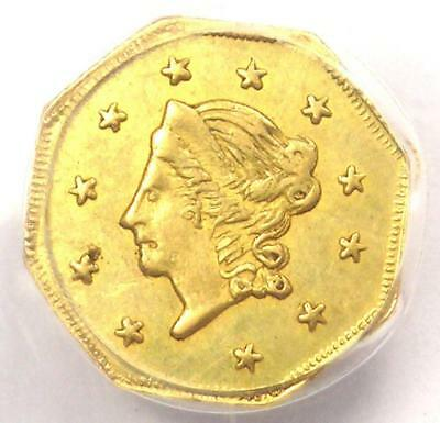 1871 Liberty California Gold Dollar G$1 BG-1104. PCGS Uncirculated Dets (UNC MS)