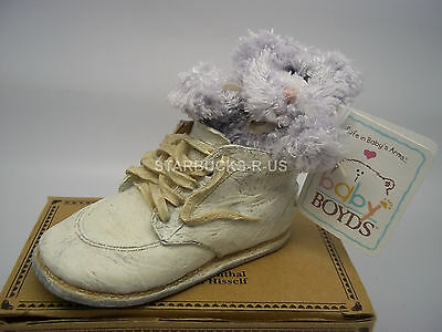 Boyds 2002 New Bear-Foot Lilie Tiny Toes Resin Shoe W/ Plush Baby Bear Gift