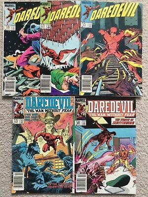 Daredevil Canadian Price Variants #199, 211, 213, 215, 224 83 to 85 Marvel VG