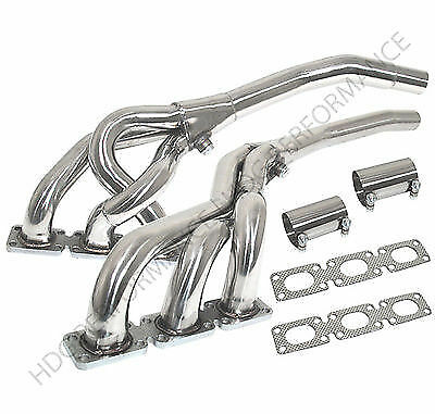 2Pc Stainless Steel Exhaust Header Manifold For 1992-1999 BMW 3 Series 2.8L/3.2L