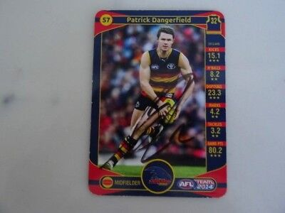 Hand SIGNED Patrick Dangerfield Adelaide Crows AFL Card