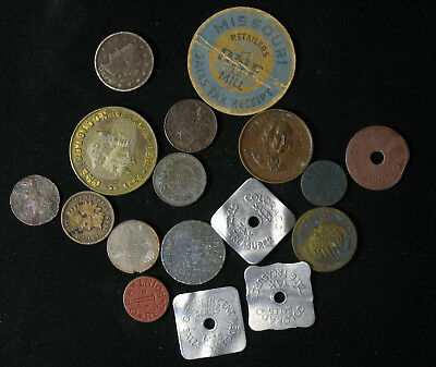 Lot of USA Tokens, Indian Head Cents, Liberty Nickel, Sales Tax