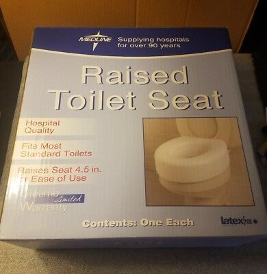 Medline MDS80318RW Raised Toilet Seat NEW
