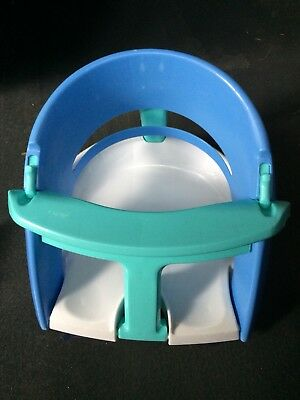 Dream Baby Safety Infant Bath Seat Blue White Tub Suction Cup Chair Dreambaby