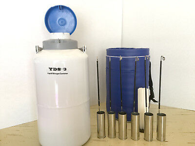 New YDS-3 3L Cryogenic Liquid Nitrogen Container 6 Pails, Thermo Case, Free Ship