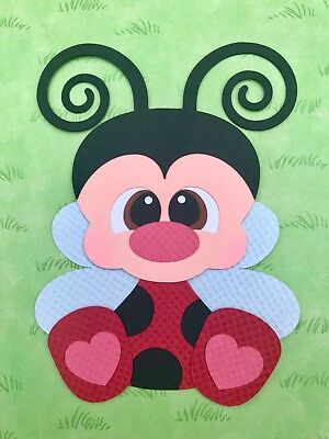 Ladybug fully assembled paper piecing / die cut