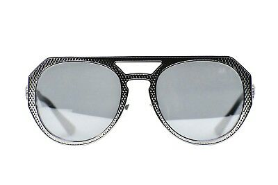 e2f6727d8eb8 Versace VE2175 1001 6G Silver Sunglasses New Authentic 60