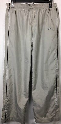 816a35d07 Nike Wind Pants Track Running Mens XXL Gray Zippered Legs Mesh Lined EUC