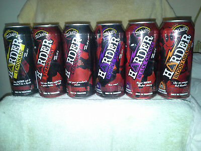 Mike's Harder 16 Oz. Deadpool 2 Cans 1 - 6 Bottom Opened Man Cave Limted Ed.