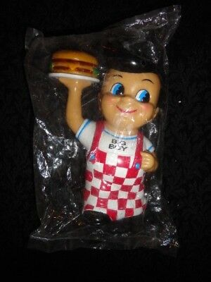 "NEW Sealed 1999 Bob's Big Boy 8"" Vinyl Figure Bank Elias Brothers Restaurants"