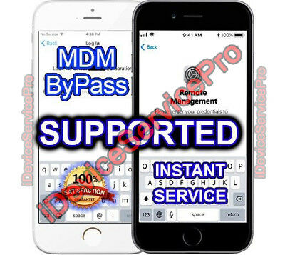 APPLE MDMBYPASS IPHONE / IPAD / IPOD 100% all iOS Versions - Fast service