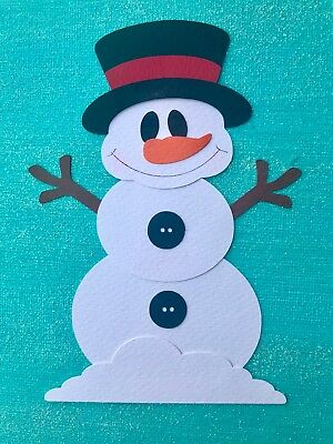 Fully assembled SNOWMAN paper piecing / die cut