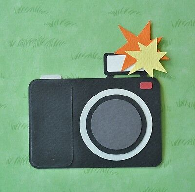Fully assembled CAMERA paper piecing / die cut
