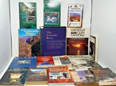 16 Book Lot: COLORADO RIVER Grand Canyon Hoover Dam Arizona Nevada Utah