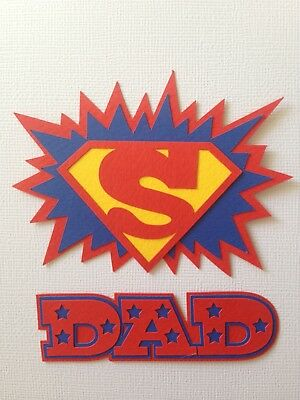 Fully assembled 'SUPER DAD' scrapbook title