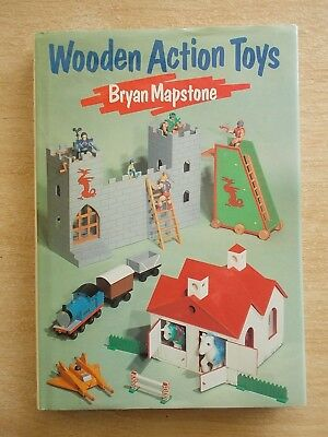 Wooden Action Toys~Bryan Mapstone~ Patterns & Instructions~134pp HBWC~1987