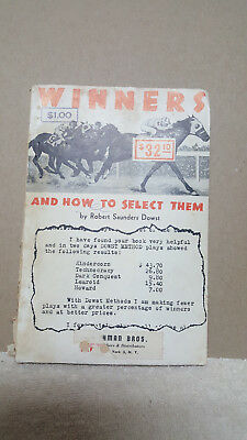 """""""Rare"""" 1935 WINNERS AND HOW TO SELECT THEM BY ROBERT DOWST ~ HORSE RACING BOOK"""