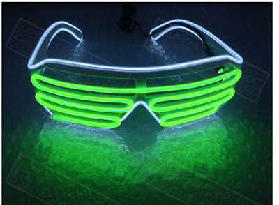 Rechargeable Green Red Blue Laser LED Stage Luminous Glasses For DJ Club Party T